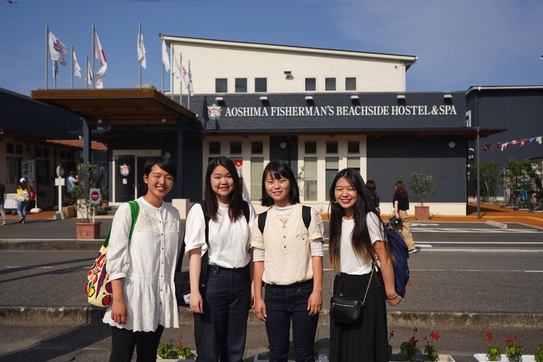 女子大生4人が初体験!青島フィッシャーマンズ・ビーチサイドホステル&スパの魅力紹介(前半)