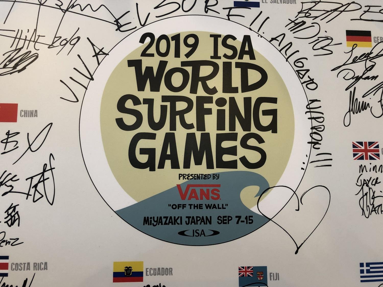 2019 ISA ワールドサーフィンゲームス サインボード展示