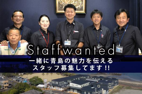 【採用情報】一緒に青島を盛り上げる仲間を募集します!!